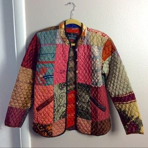 Sacred Threads Quilted Patchwork Jacket